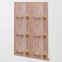 Mid mod mauve Wallpaper