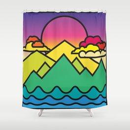 Warmer Times Shower Curtain