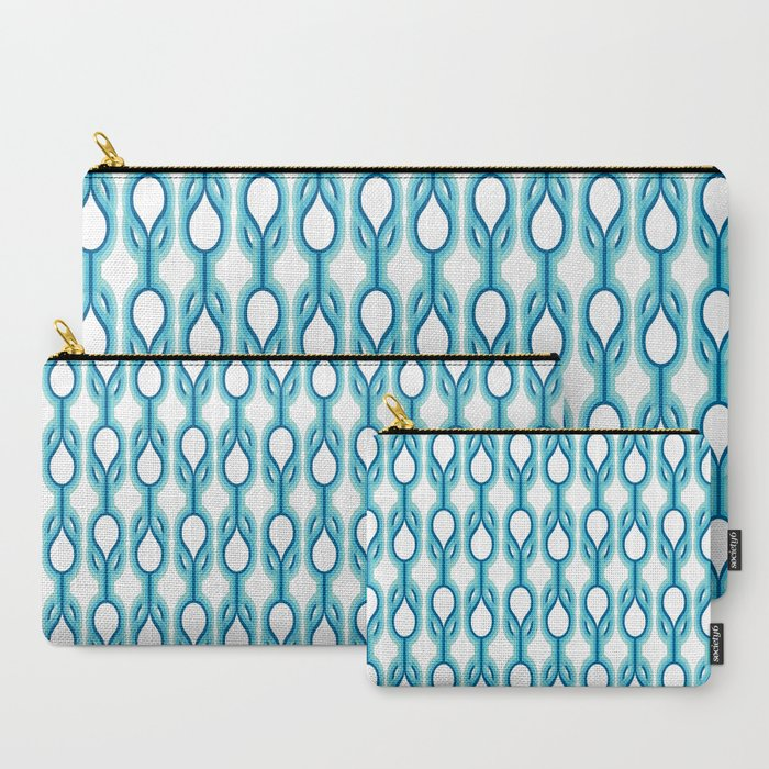 Retro-Delight - Double Drops - Blue Carry-All Pouch