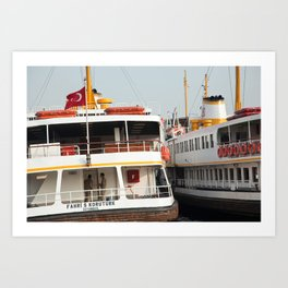 "Travel Photography ""Iconic ferry boat"" - Istanbul, Turkey. Color fine art. Photo print.  Art Print"