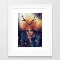 helen Framed Art Prints featuring Helen by Joan Culum