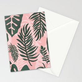 Jungle leaves pattern Stationery Cards