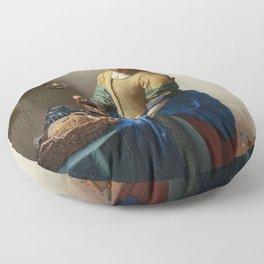 Vermeer - The Milkmaid Floor Pillow