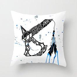 Watercolor Tomahawk Throw Pillow