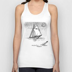 message in a bottle Unisex Tank Top