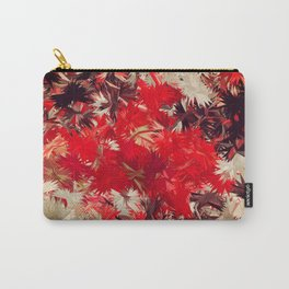 Japanese Silk Red Jungle Carry-All Pouch