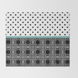 A combined decorative pattern . Throw Blanket