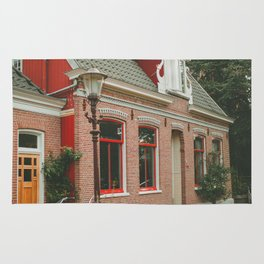 Amsterdam red house Rug