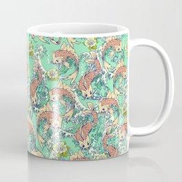 Golden Koi Fish in Pond Coffee Mug