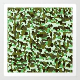 brownish green camo Art Print