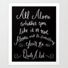 All Alone Art Print
