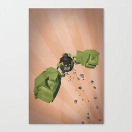 Green-Bot Jump Canvas Print