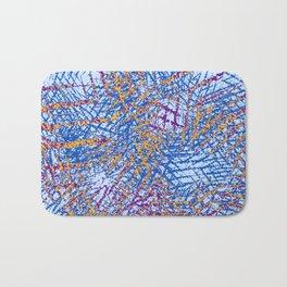 Blue Abstract Stripes Beach Colors Bath Mat