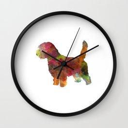 Petit Basseft Grifon Vendeen in watercolor Wall Clock