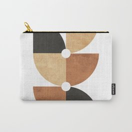 A Game of Quarters 1 - Minimal Geometric Abstract Carry-All Pouch