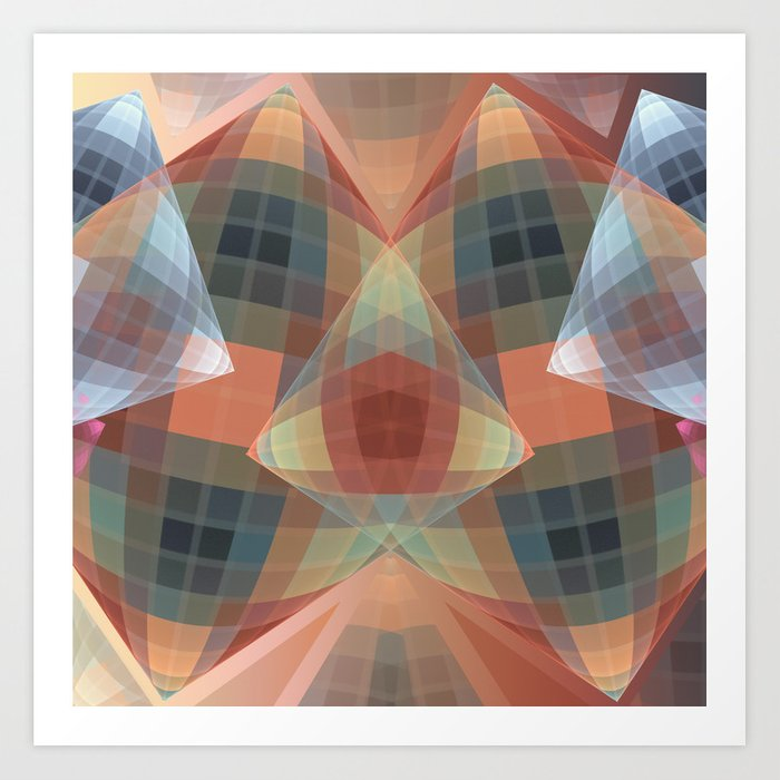 Diamonds and patterns, trendy geometric abstract Art Print
