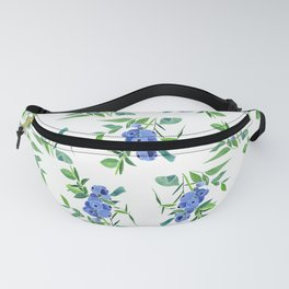 Watercolor Blueberry Fanny Pack