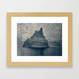 Frank Hurley photo of Antarctica, 1913 Framed Art Print