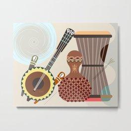 Afro Rhythmic Metal Print