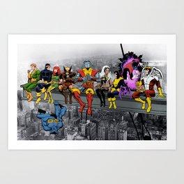 X-Men Lunch Atop A Skyscraper Art Print