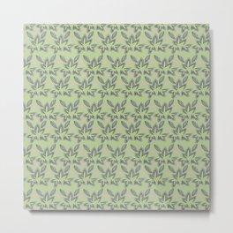 Grayscale leaves Metal Print