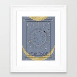 The World or Le Monde Tarot Framed Art Print