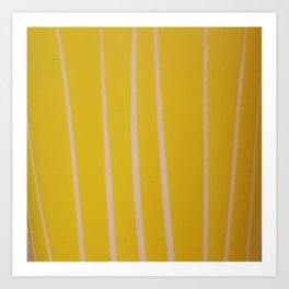 Strokes yellow Art Print