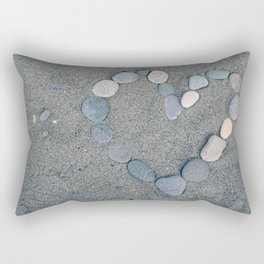 Stone Heart Rectangular Pillow