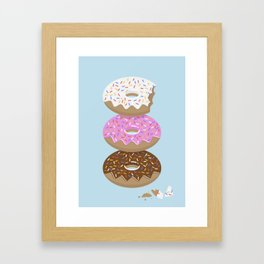 Triple Treat! Iced Doughnuts Framed Art Print