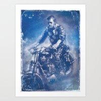 steve mcqueen Art Prints featuring McQueen by Scott Dickson