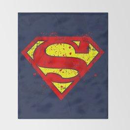 Super Man's Splash Throw Blanket
