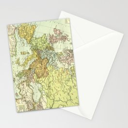 Vintage Map of Europe (1918) Stationery Cards