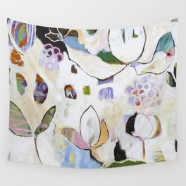 """Letting Go"" Original Painting by Flora Bowley Wall Tapestry"