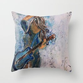 rock and roll goddess Throw Pillow