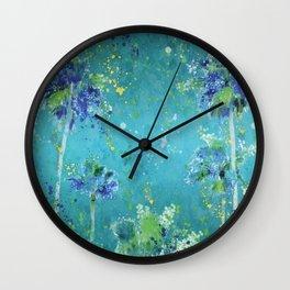 Palm Trees In Art Wall Clock