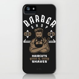 Barber Shop iPhone Case