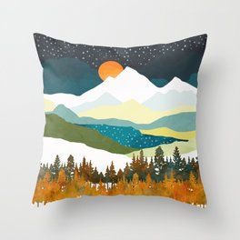 Winters Night Throw Pillow