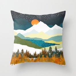 Winters Night Throw Pillow