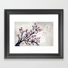 Sakura Sakura watercolour Framed Art Print