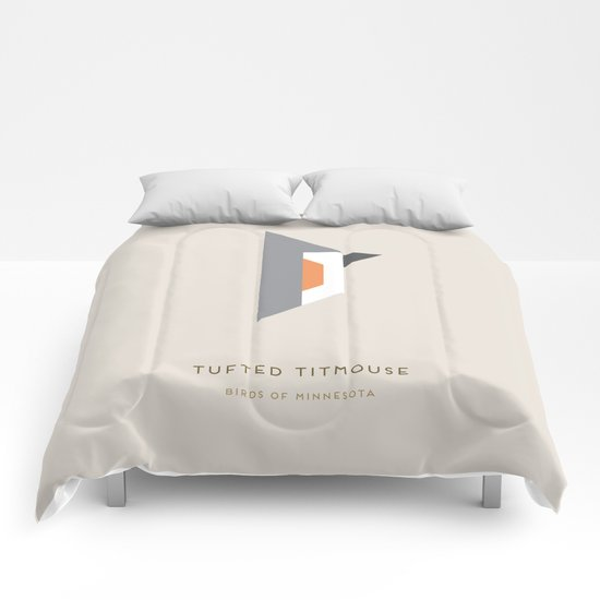 Tufted Titmouse Comforters