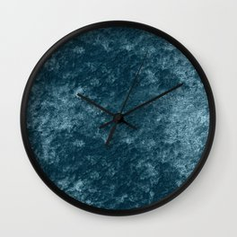 Peacock teal velvet Wall Clock