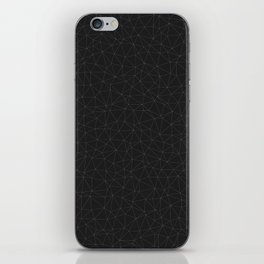 Elegant White and grey geometric mesh iPhone Skin
