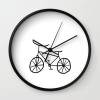 bike Wall Clocks featuring Bike by Kristijan D.