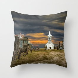 Western 1880 Town Throw Pillow