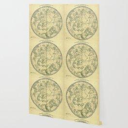 Antique Celestial Northern Circumpolar Map Wallpaper