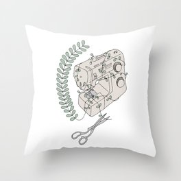 The Sewing Machine Escape Throw Pillow
