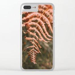 Autumn fern Clear iPhone Case