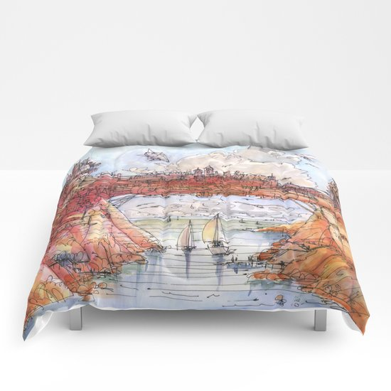 La Citta' Ponte (Color Version) Comforters