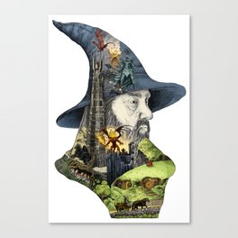 Story of the wizard of the rings Canvas Print