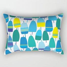 Blue Lobster Buoy Pattern Rectangular Pillow